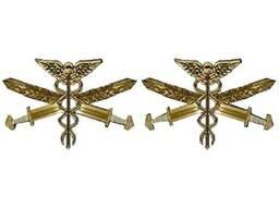 Эмблема на воротник Части и Подразделения Тыла и Вооружения ВСУ металл