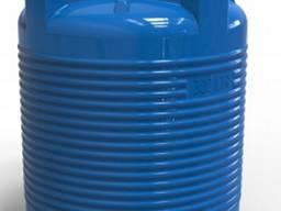 Емкость 300л пластиковая вертикальная для воды (зебра)