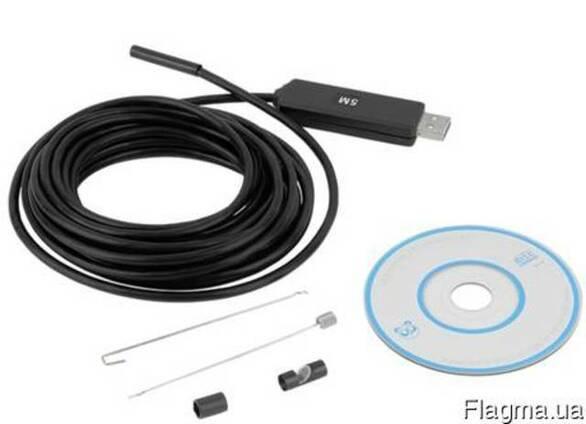 Эндоскоп USB 5м 5,5 мм водонепроницаемый ВЕБ-камера