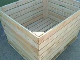 Евроконтейнер, контейнер для яблок, деревянный контейнер