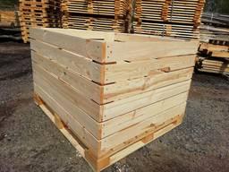 Деревяный евроконтейнер для яблок