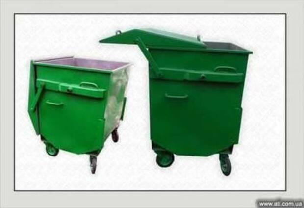 Евроконтейнер (контейнер для мусора) 1.1 м.куб