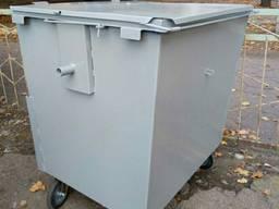 Евроконтейнер мусорный металлический. Евробак железный для мусора (тбо отходов) 1. 1 м3 куб