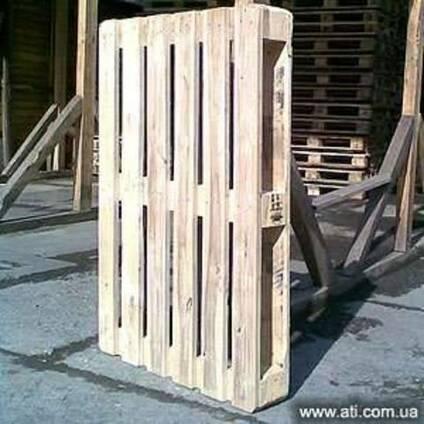 Поддоны деревянные облегченные (б/у, светлые).
