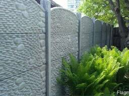 Еврозабор ( бетонный наборной забор) Покраска. Монтаж
