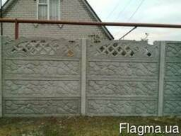Ж/б забор, секционный забор, бетонный забор