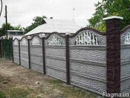Еврозабор секционный, Бетонный забор