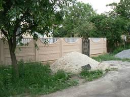 Еврозаборы бетонные, изготовление и установка.