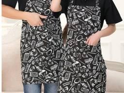 Фартук для повара Кухня, фартук для кухни, черный фартук