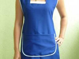 Фартук для продавца женский, ткань габардин. Пошив под заказ
