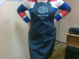 Фартук -накидка для барменов, пекарей пошив под заказ