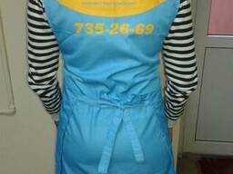Фартук-накидка продавца с логотипом, пошив под заказ
