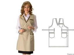 Фартук-платье парикмахера или продавца. Заказ на пошив.