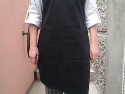 Фартук повара ассиметричный черного цвета, пошив под заказ