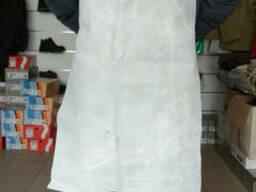 Фартук спилковый (кожаный) серого цвета