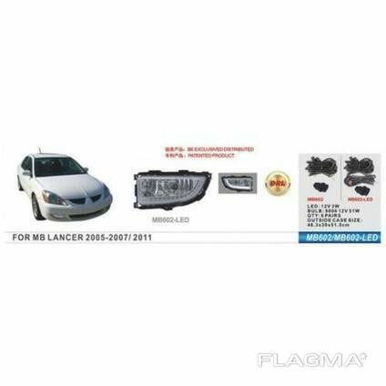 Фары доп. модель Mitsubishi Lancer 2005-07/MB-602-LED/9006-51W/2в1/эл. проводка (MB-602-LED)