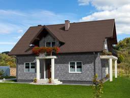 Фасадная плитка Технониколь Hauberk камень сланец (серый)