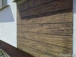 Фасадная штукатурка с имитацией дерева