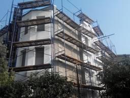 Фасадные работы Одесса. Утепление стен. Высотные работы.