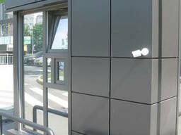 Фасады из алюминиевых композитных кассет , бытовки, домики,