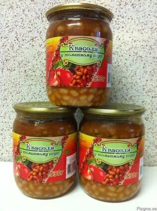 Фасоль в томатном соусе, 530 г