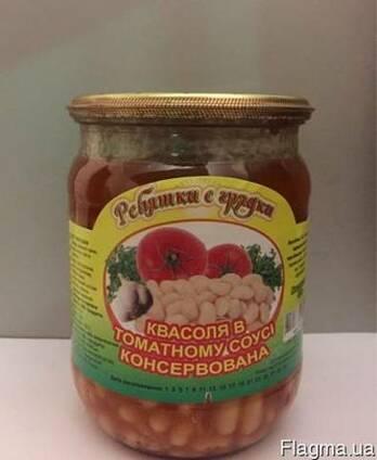 Фасоль в томатном соусе консервированная