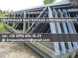 Фермы металлические для крыши от 3м до 30м без столбов