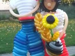 Фигуры и композиции из шаров для моделирования в Черкассах.
