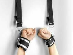 Фіксатор для рук на дверях Fetish Tentation Door swing handcuffs Чорний