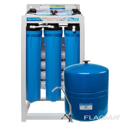 Фильтр обратного осмоса RO400 на 1500 литров в день 400 галлон! помпа, бак 42 л