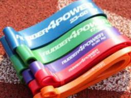 Резиновые петли набор из 4 штук нагрузка 2-54 кг для спорта