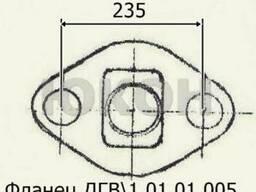 Фланец ДГВ 1.01.01.005, плита задняя Б6-ДГВ