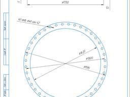Фланец Ду1600 мм Ру1,0 МПа,1-1600-10 Ст3сп ГОСТ 12820-80