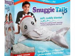 Флисовый плед для детей Snuggie Tails Shark