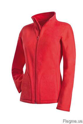 Флиска, корпоративная одежда, флисовая кофта красная