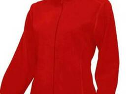 Куртка флисовая красного цвета