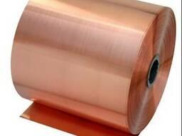 Фольга медная лента 0,05 ; 0,1 ; 0,2; 0,3 М2М ГОСТ 5638-75