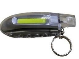Ліхтарик-брелок з кільцем LED 5W пластиковий. ..
