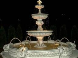 Фонтан с бассейном парковый, садовый (с подсветкой)