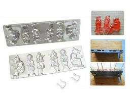 Форма для приготовления леденцов и конфет «Гномики и мишки»