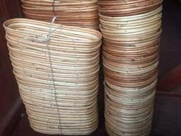 Форма для расстойки хлеба из лозы овальная на 0,8 кг