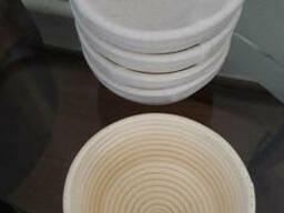Форма для расстойки хлеба из ротанга круглая на 0, 75 кг с тканью. Расстоечная корзинка. ..