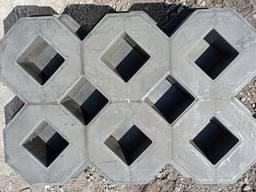 Форма для тротуарной плитки решетка газонная 600х400х100