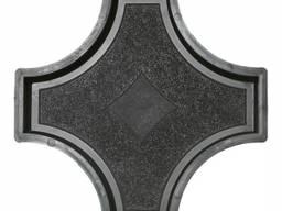 Форма для тротуарной плитки РОНДО крест большой 325×325×45 Украина 1 шт