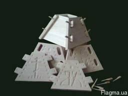 Форма для творожной пасхи 0,8 л, деревянная пасочница (липа)