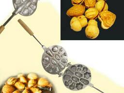 Форма для выпечки орешков и печенья с начинкой орешница «Лесное Ассорти»(большая)