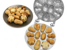 Форма для выпечки орешков с начинкой орешница для половинок печенья ассорти (большая)
