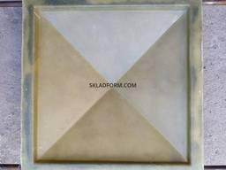 Форма крышки колпак четырехскатный гладкий 1 - фото 3