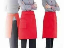 Форма для официанта, рубашка и фартук официанта
