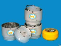 Форма с сеткой для сыра круглого весом до 0. 5 кг типа Гауда